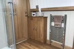Side cabinet & towel rail