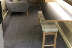 Fold-down table