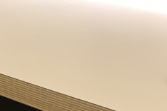 Cream woodedged worktop