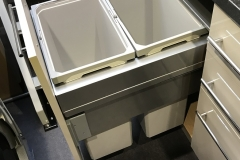 Double waste bin unit