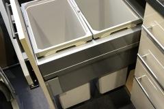 Double waste bin unit