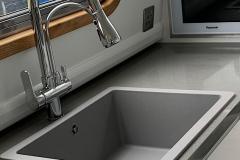 Pale grey sink