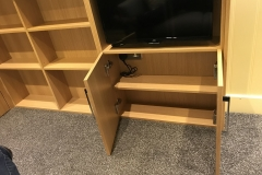 TV, bookcase & storage unit